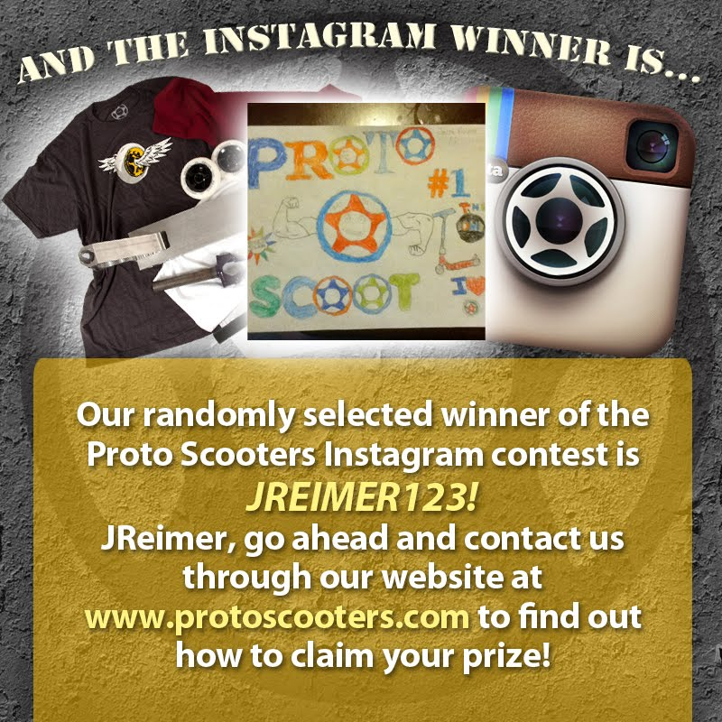 how to pick a winner for instagram giveaway inside scooters proto instagram contest winner announced 4605