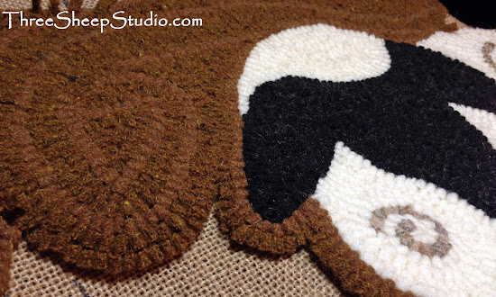 Traditional Wool Rug Hooking by Rose at ThreeSheepStudio.com