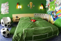 Habitaciones tema ftbol  Dormitorios colores y estilos
