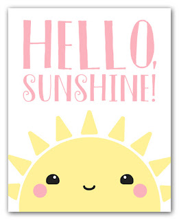 Hello Sunshine kawaii sun art print