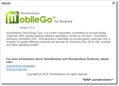 Wondershare MobileGo for Android v5.0.0.276