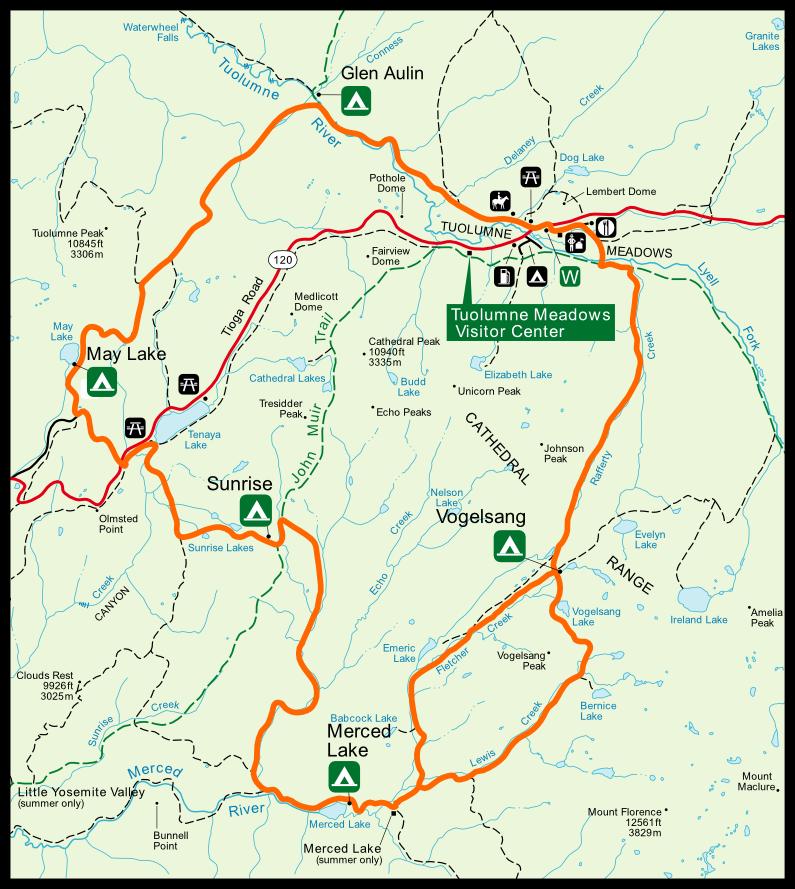 Yosemite S High Sierra Loop Trail Trail Segment 2 Glen