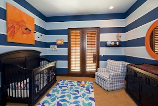 Habitación para bebé color azul