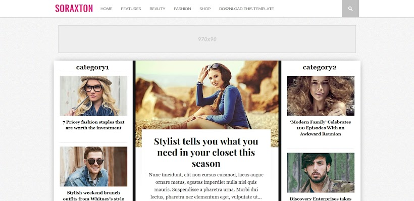 Soraxton Free Blogger Template
