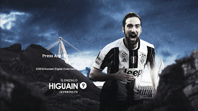 PES 2017 Gonzalo Higuain (Juventus) Starting Screen by Leo05