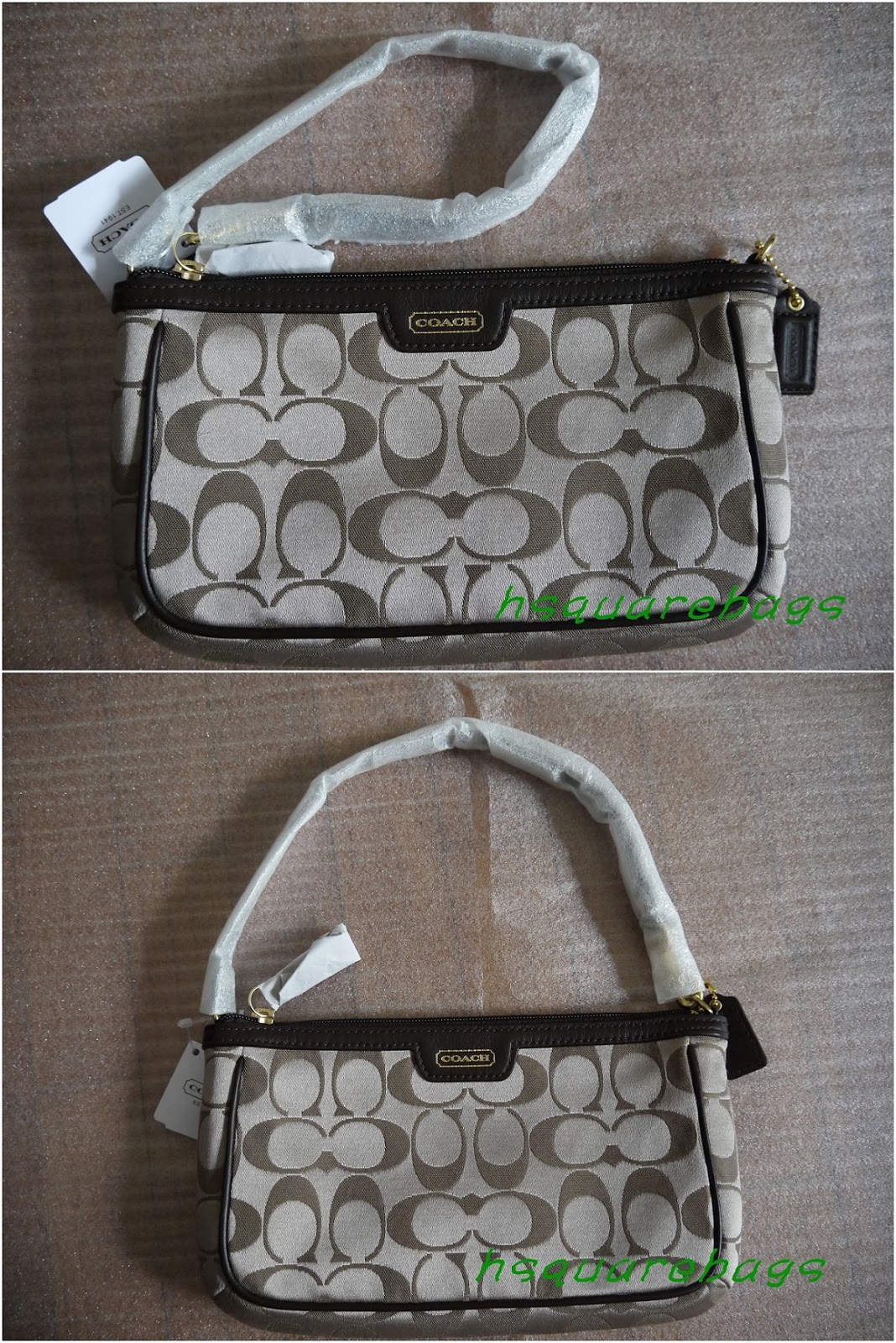 COACH CAMPBELL SIGNATURE LARGE WRISTLET - F51111 ($119 INCL HOME DELIVERY)