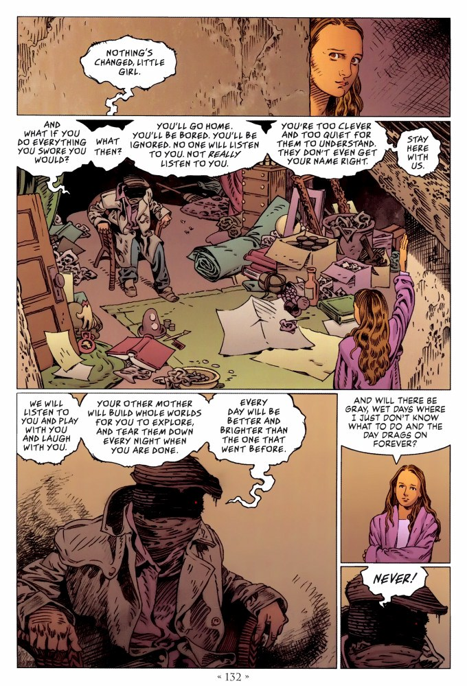 Read page 132, from Nail Gaiman and P. Craig Russell's Coraline graphic novel