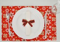 decoração de mesa posta simples