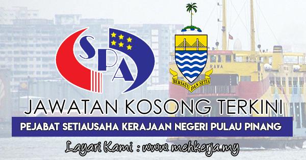 Jawatan Kosong Terkini 2018 di Pentadbiran Kerajaan Pulau Pinang