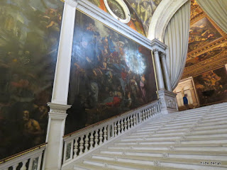 Stair case in Scuola Grande di San Rocco, Venice.