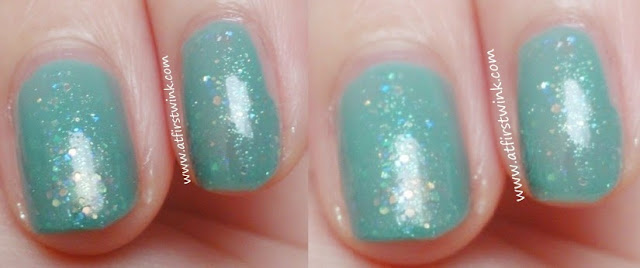 Canmake nail polish number 43 under different lighting