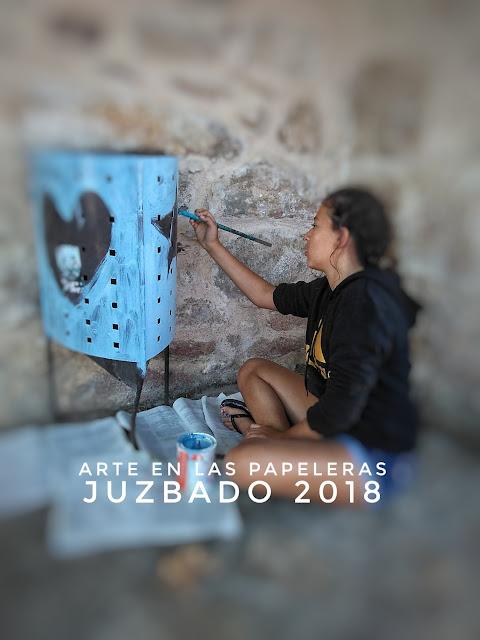 Juzbado, arte en las papeleras, arte en verano 2018
