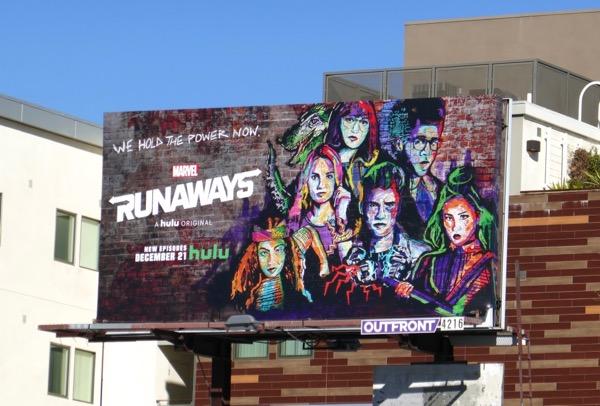 Runaways season 2 billboard