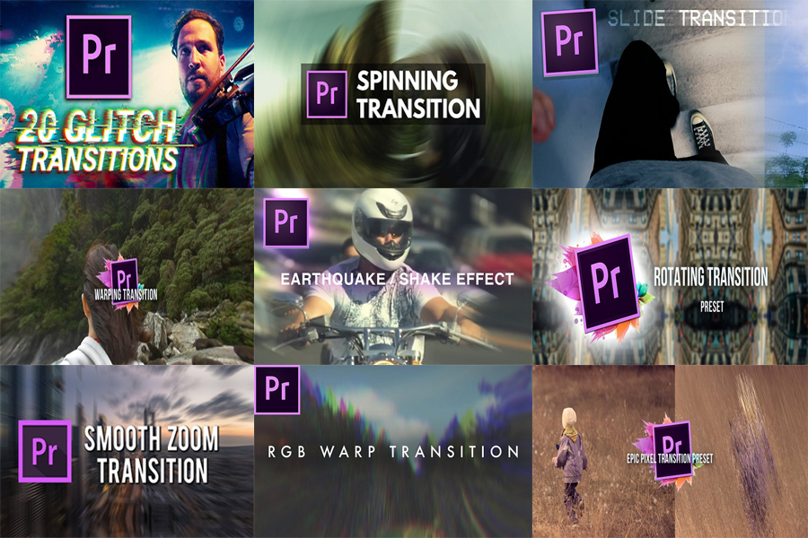 1500+ Transitions FX Presets & Templates For Adobe Premiere Pro