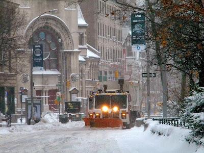 snow plows winter new york city