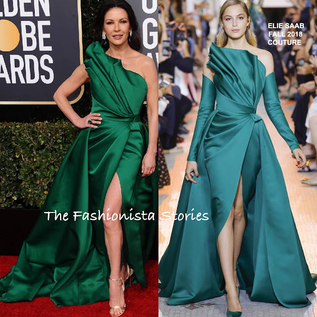 Catherine Zeta-Jones & Anne Hathaway In Elie Saab At The