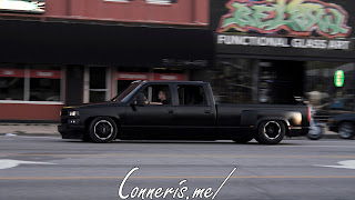 Matte Black Lowered Chevrolet Dually