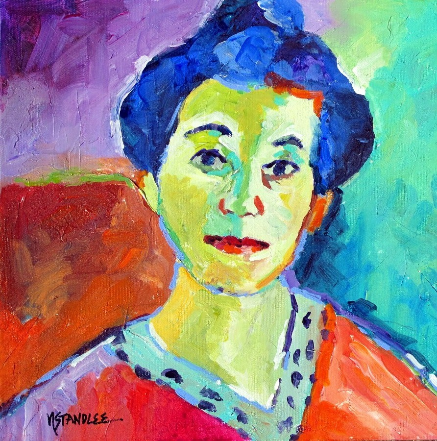 Abstract Oil Wall Artworks Woman Face Painting Modern Oil ... |Modern Portrait Artists
