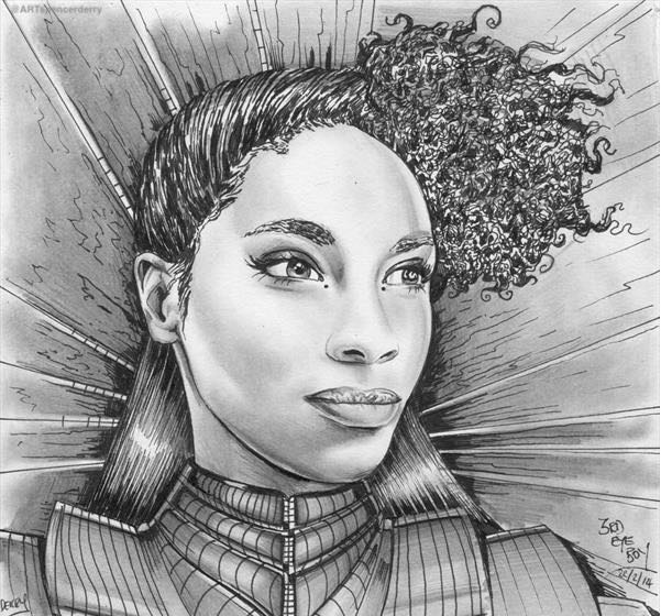 Portrait of British Singer, Songwriter  Lianne La Havas As Charlotte Ann TelepathyAnn