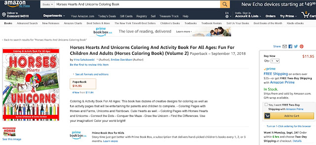 Coloring Book Horses on Amazon