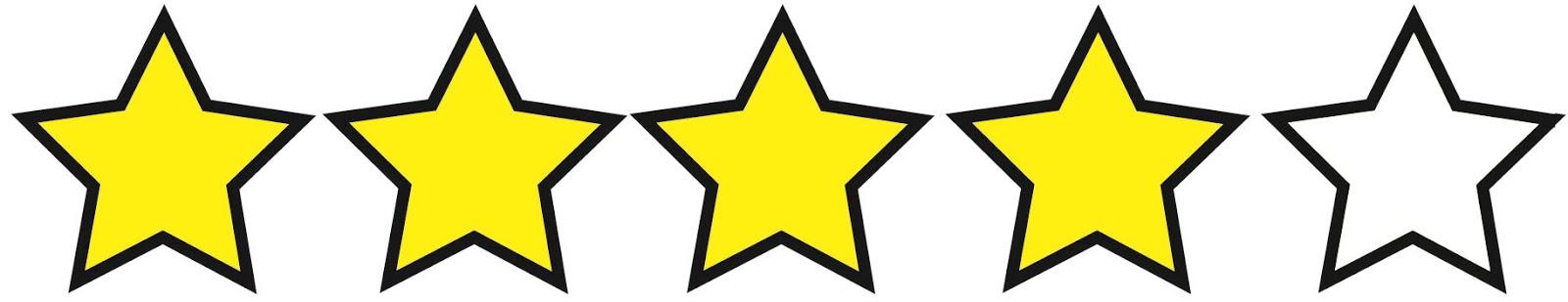 Risultati immagini per 4 stelle su 5