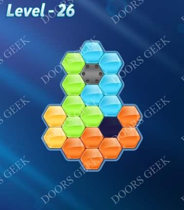 Block! Hexa Puzzle [5 Mania] Level 26 Solution, Cheats, Walkthrough for android, iphone, ipad, ipod