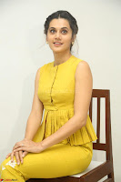 Taapsee Pannu looks mesmerizing in Yellow for her Telugu Movie Anando hma motion poster launch ~  Exclusive 019.JPG