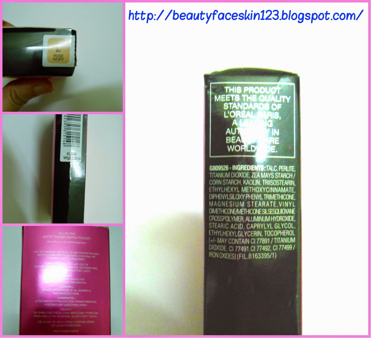 L'OREAL PARIS MAT MAGIQUE ALL IN ONE COMPACT WITH SPF 34 PA+++