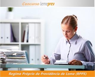 Apostila concurso Regime Próprio de Previdência de Leme ( Lemeprev - RPPS)