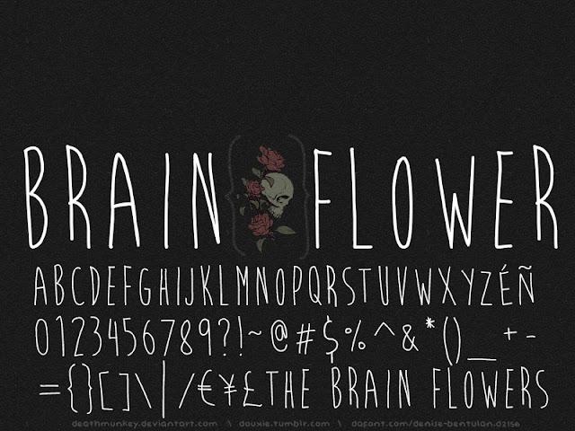 brian flower, fuente, tipografia, descargar
