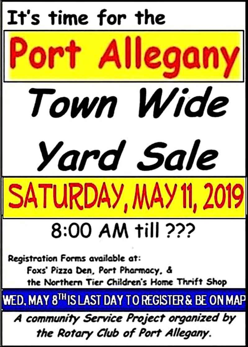 Solomon's words for the wise: Port Allegany 2019 Town Wide Yard