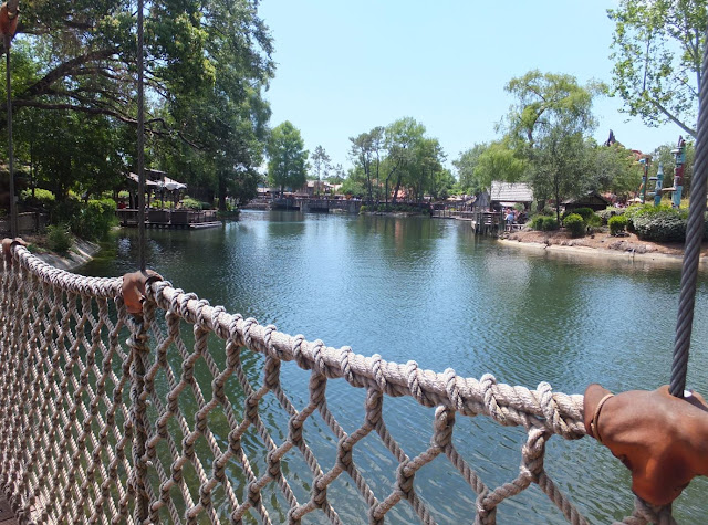 Magic Kingdom Tom Sawyer Island Rope Bridge