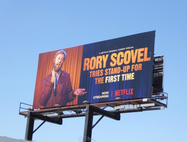 Rory Scovel tries standup billboard