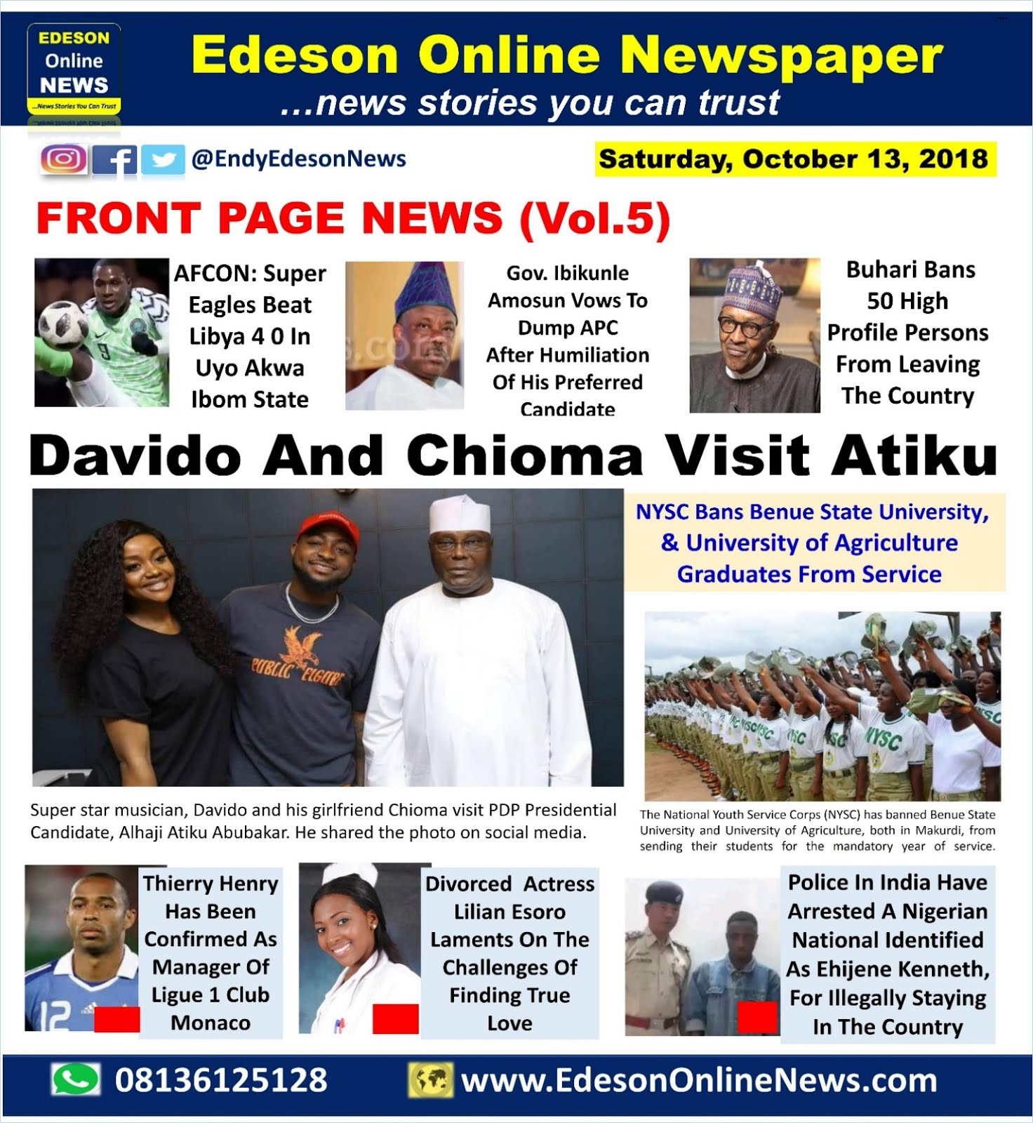 Edeson Online Newspaper: Top 12 Trending News Stories ...