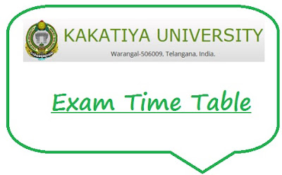 KU Warangal Time Table 2020