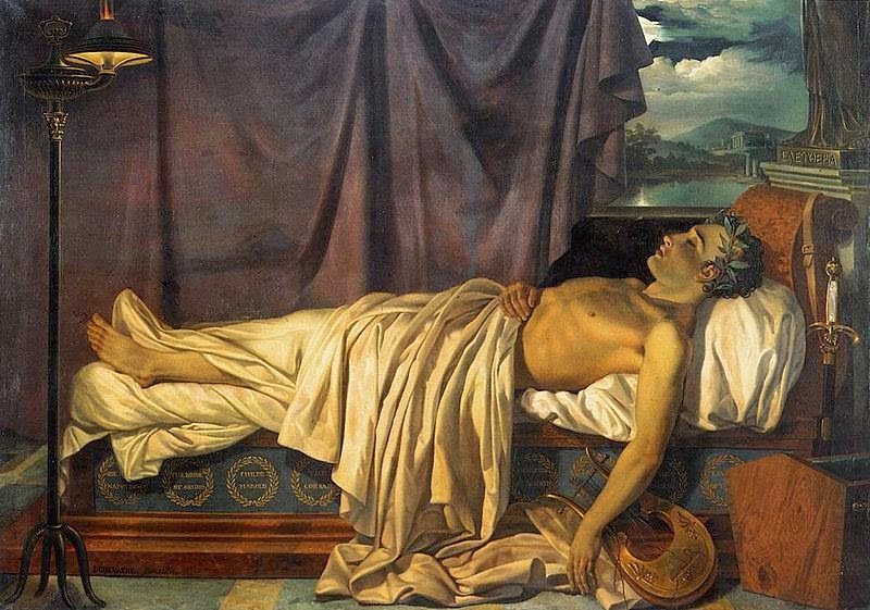 Lord Byron on his deathbed Joseph Dionysius Odevaere