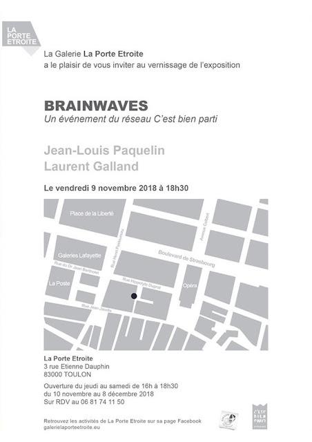 Flyer de l'exposition Brainwaves - verso