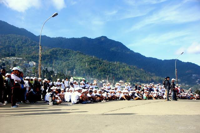 Police-Public Marathon organized by Nagaland Police Kohima Nagaland 2