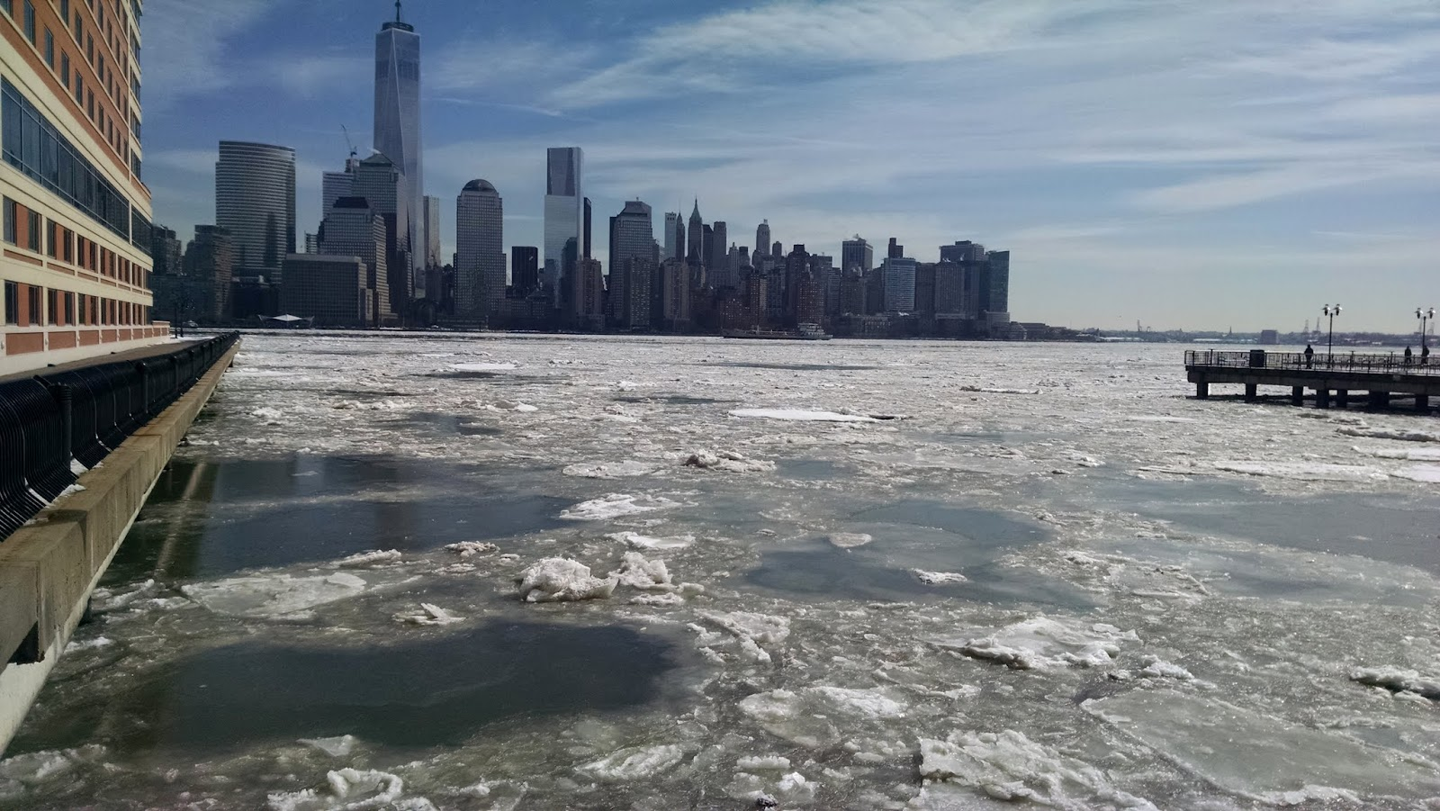 Замерзший Гудзон, Нью-Джерси (Frozen Hudson River, NJ)