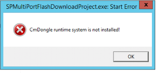 CmDongle runtime system not installed!