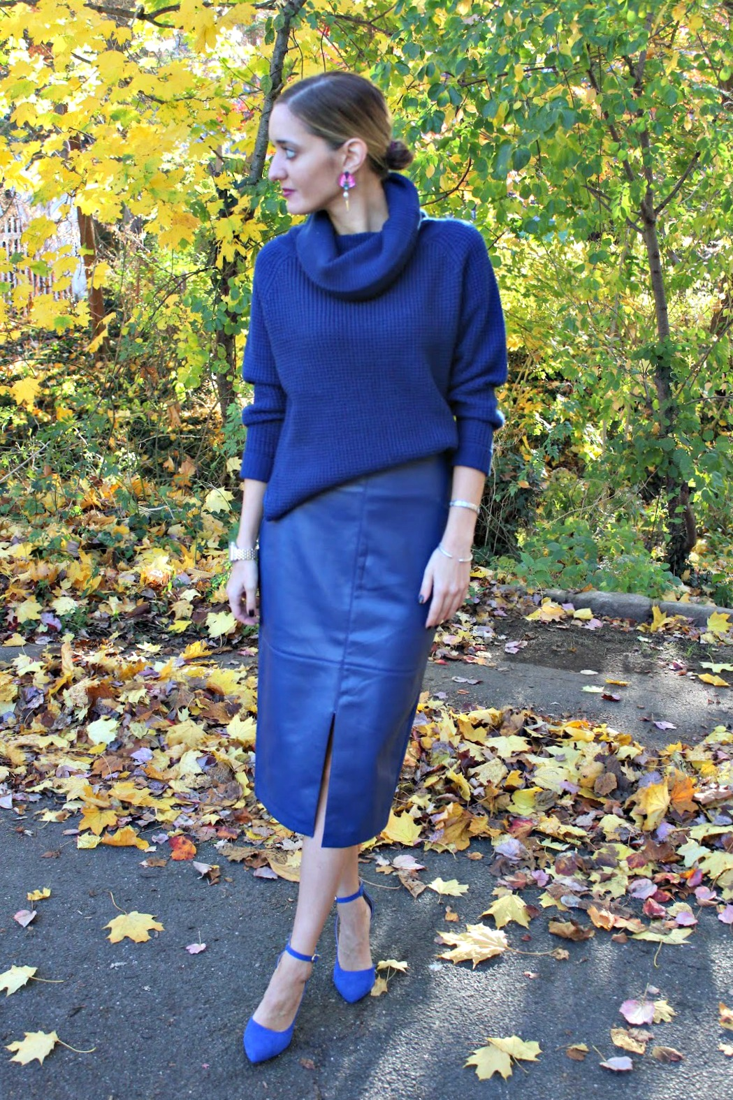 ny & company head to toe blue outfit