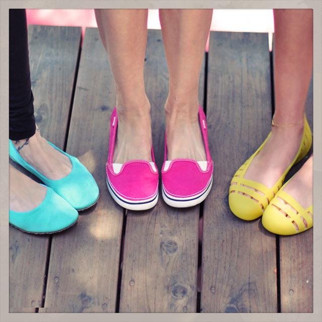 cute bright summery shoes, crocs