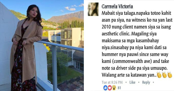 Fans Shared The One of a Kind Experience of Witnessing Angel Locsin's Generosity and Kindness