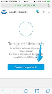 Como reclamar a Mercadopago Argentina Paso 4