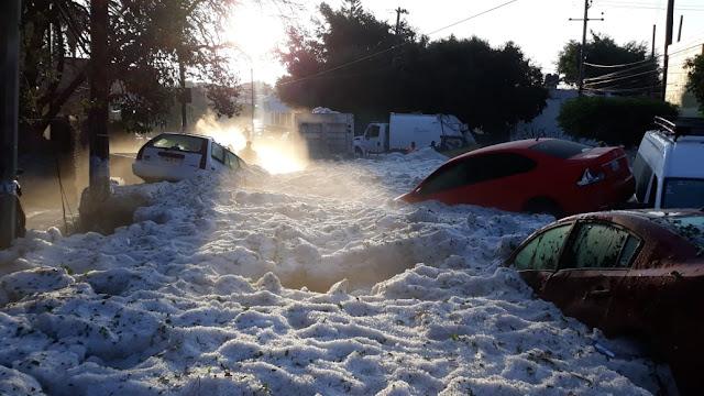 Granizada sepultó a la ZMG en hielo