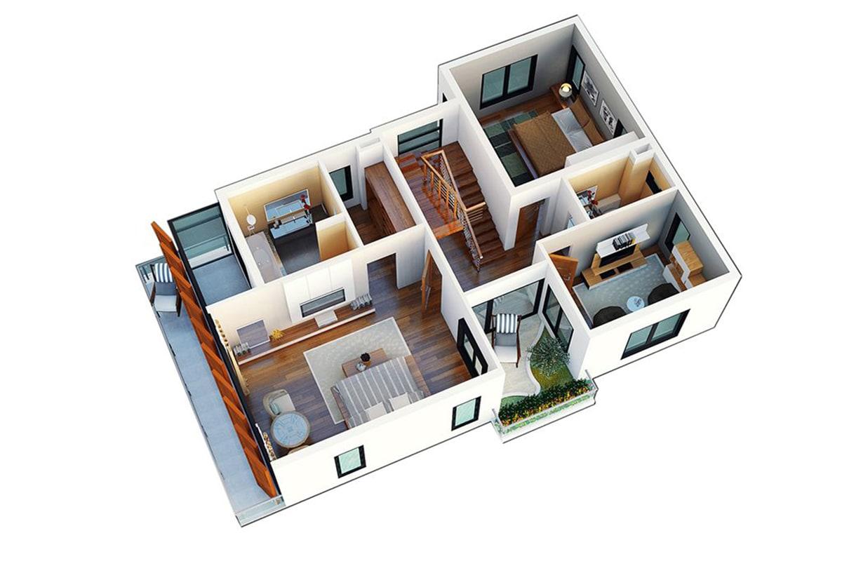 Mặt bằng tầng 1 Biệt thự Ngọc Trai FLC Sầm Sơn
