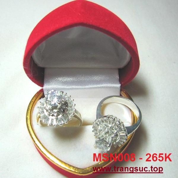 TrangSuc.top - Nhẫn đính đá trắng cao cấp MSN008 - 265.000 VNĐ Liên hệ: 0906 846366(Mr.Giang)