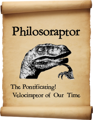 Know Your Meme - The Philosoraptor