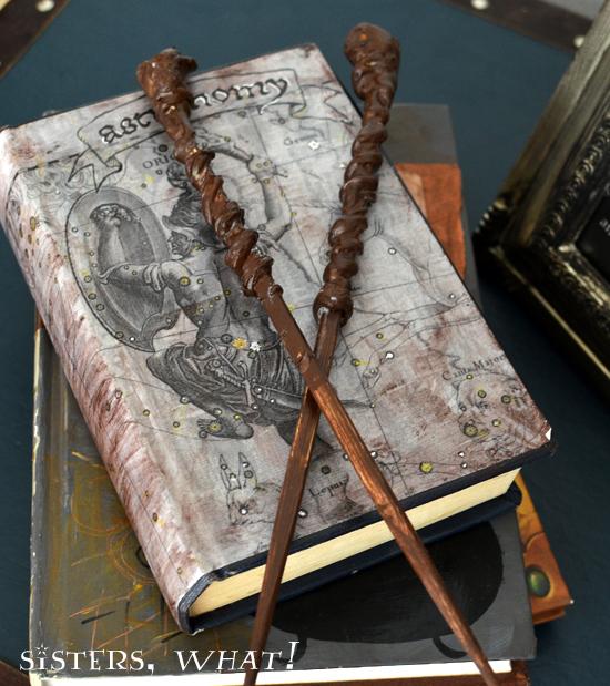 DIY Harry Potter wands | just chopsticks, a glue gun and paint