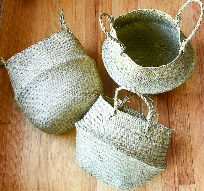 Plain basic belly baskets